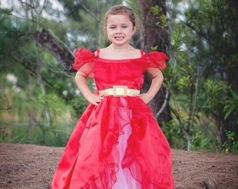 Elena Dress / Disney Inspired Princess Elena of Avalor Inspired Costume / Signature style for toddler, child, girl