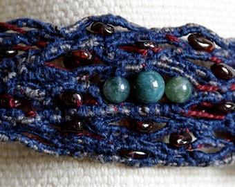 MAHI textile art Cuff Bracelet