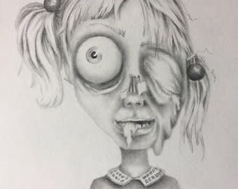 Zombie Girl (Drawlloween)