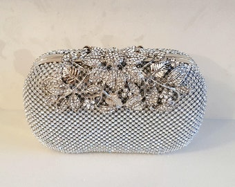 Embellished Clutch Bag in Silver & Gold || Chain Bag