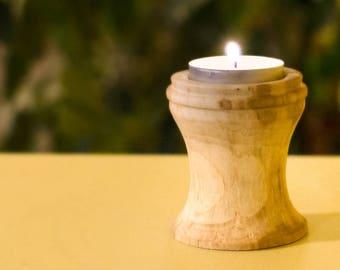 Hand Turned Wood Tealight Holder