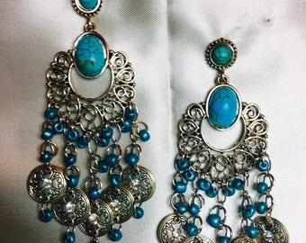 Blue Dance Earrings