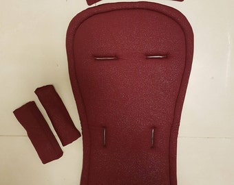 seat stroller liner with strap, stroller pad, pram strap covers, Bugaboo seat, baby carriers&wraps, stroller liner, Babyzen Yoyo, bordeaux