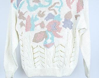 Vintage 80s patterned jumper S/M