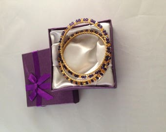 Gold-toned Bangle Bracelets