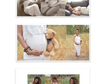 13 pages 8X8 album template , photo book templates for photographers, family album, newborn album,maternity album, photoshop files
