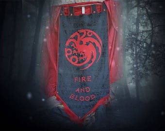 HOUSE TARGARYEN Banner - Game of Thrones Sigil