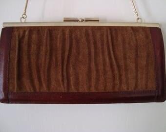 80's Suede & Leather Shoulder Bag