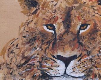 Rustic Cheetah Painting Print
