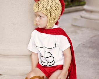 Crochet Spartan Helmet