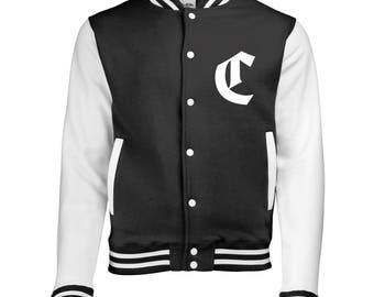 Personalized Initial Varsity Jacket, Letterman Jacket in Old English Font