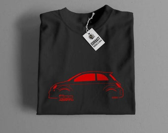 T-shirt Abarth 500 Cinquecento | Gent, Lady and Kids | all the sizes | worldwide shipments | Car Auto Voiture