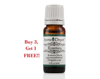 Rosemary Essential Oil 100% Pure, Undiluted, Therapeutic Grade. Buy 3, Get 1 FREE!!!
