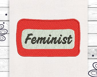 Feminist embroidery Discount 10% Digital embroidery design 4 sizes INSTANT DOWNLOAD EE5117