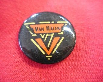 80s Van Halen Pin Back Button 1980s