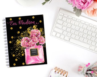 Perfume Bouquet Planner Cover Personalized Monogram Erin Condren Life Planner Recollections A5 B6 Personal Pocket Dashboard Happy Planner