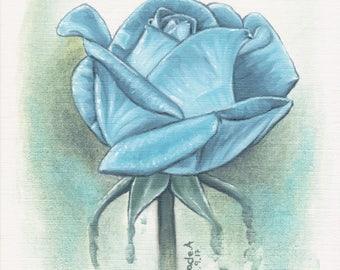 Blue Rose- print