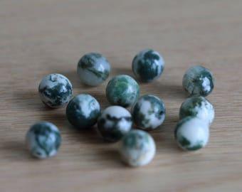 Agate green beads - 8mm - 50 pcs