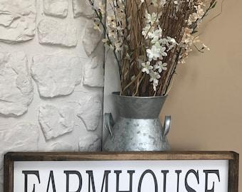 Farmhouse. Wood Sign. Wood Framed Sign. Wood Frame. Rustic. Farmhouse Decor. Wall Decor. Home Decor.