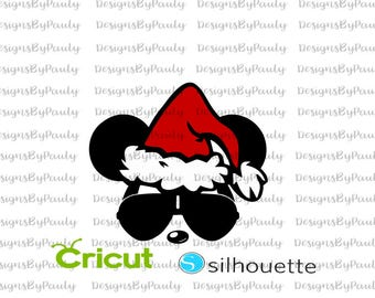 Mickey Glasses an Santa Hat Mickey Christmas SVG DXF DXF download Christmas