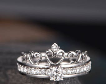 Crown Shaped Ring Etsy