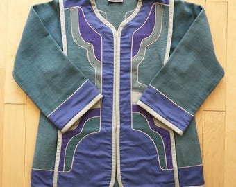 1970's G Girvin Jacket   Women's Blazer   Vintage Stage Jacket