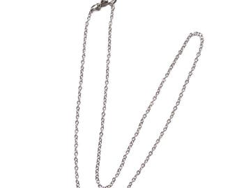 2 Rolo 16 Inch Silver Chain, Finished Necklace, Chain Necklace, Silver Chain, Choker, Wholesale, Adjustable Necklace, On sale