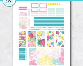 Passion Planner Stickers * Compact Sized Passion Planner * Printable Planner Stickers - SUMMER FLOWERS - Digital Download