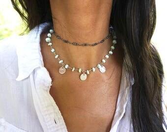 SIERRA Necklace    Peruvian Opal    Silver