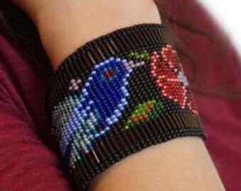 Bird Huichol Bracelet//Jewelry//Boho//Trendy//Chaquiras//Romea accessories//Geometric//Mexican Jewelry//Handmade beaded//Huichol Art