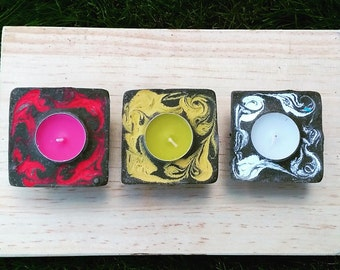 Trio of Lemongrass and Rosemary candle
