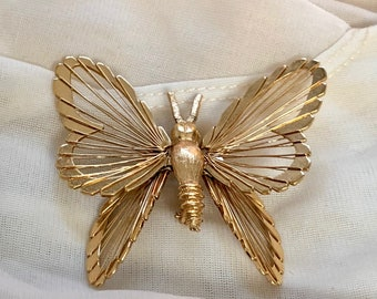 Monet Butterfly Brooch/Vintage Pin