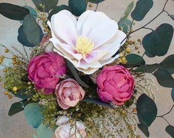 Boho Bridal Bouquet, Peony Bridal bouquet, Romantic Flower Bouquet, Romantic, Sola Flower Bouquet, Sola Flowers, Natural Bouquet, Pink