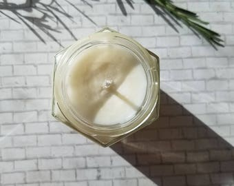Rosemary Mint scented Soy Candle-6oz Candle-Natural Candle-Peppermint- Rosemary- Aromatherapy- Essential Oils