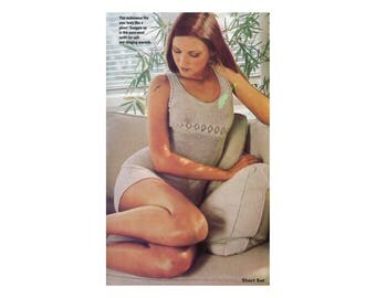 Knit Camisole, Shorts, Pants Knitting Pattern - Long Johns, Long underwear, Underthings, Undergarments, Openwork