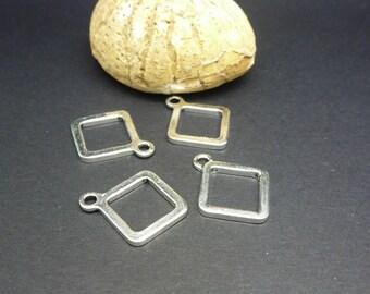 4 charms geometric Rhombus 21 * 17mm (8SBA74)