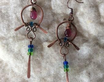 Boho Cooper Tribal Earrings