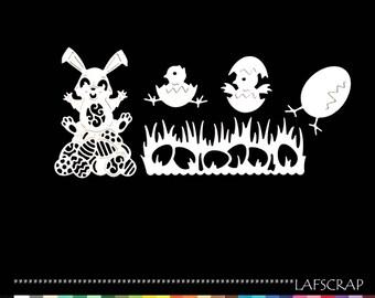 cuts scrapbooking Easter egg chick rabbit cut paper embellishment die cut creation