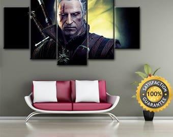 Witcher canvas, Wiedźmin canvas, Geralt of Rivia, Gerald of Rivia, Geralt canvas, Gerald canvas, Witcher wall art, White wolf canvas, Geralt
