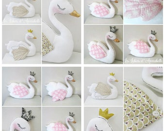 Cushion decorative Swan 2 model choice