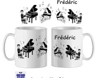 Mug pianist name to personalize ex Frederick