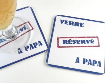 Men gift father's day coasters personalized coaster glass for Dad