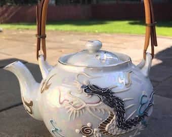 Vintage Dragonware Teapot, Epicurio No.131, Ming Tea Co., Raised Dragon Teapot, Japanese Teapot, Made in Japan