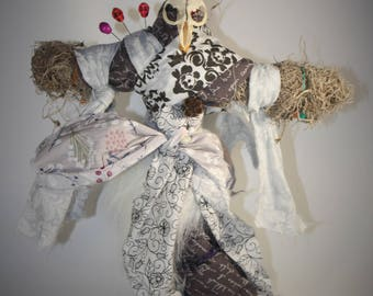 Real Bone Authentic Voodoo Doll- Happiness Focus- Sage Blessed