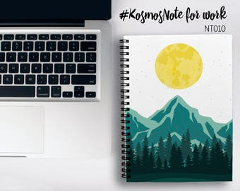 Nature Notebook Mountains Notebook A4 Moon Notebook A5 Spiral Notebook Notebook Writing Journal A4 Custom Notebook Customized 2018 Planner