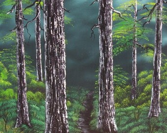 Oil on Canvas- Forest Walk