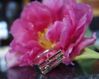 man ring gold ring 18 K, Sapphire men ring, woman diamond ring, Emerald gold ring, ring man, designer ring, unique ring.