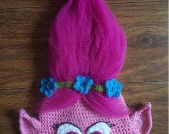 Crochet poppy hat, troll hat, poppy hat, troll wig, poppy costume, troll costume, Trolls, trolls poppy wig, poppy hat