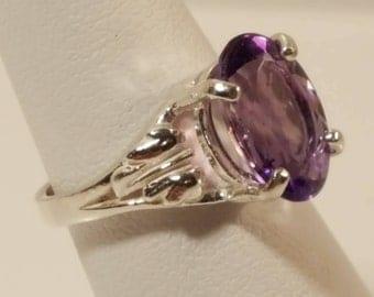 Natural Brazilian Amethyst Ring