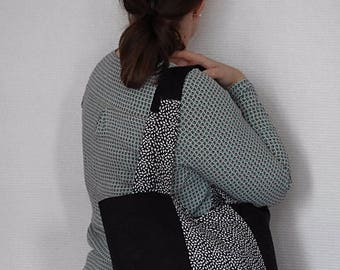 Fancy patterns and black tote bag